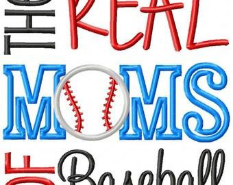 Custom Baseball shirt - Real Moms of Baseball or Softball - Mom Baseball Shirt 1a