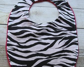 Clearance Sale***Pink Zebra Bib