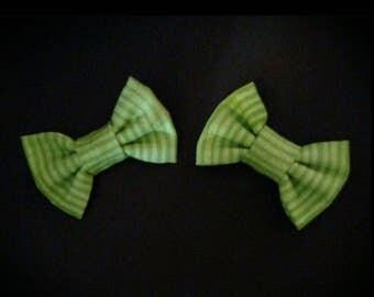 Stripey Green Bows
