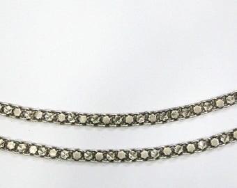 Antique Ethnic Tribal Old Silver Anklet Bracelet Pair