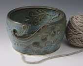 Yarn Bowl, Crochet, Knitting, Tidal Pool Blue, Green, handmade, Present, Birthday Gift, Christmas, IN STOCK, ready to ship