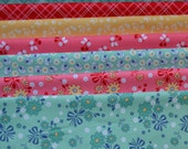 Calico Days, Lori Holt/Fat Quarter Fabric Bundle/Riley Blake Designs/Cotton Sewing Material/Quilting, Clothing, Craft/7 Fat Quarters