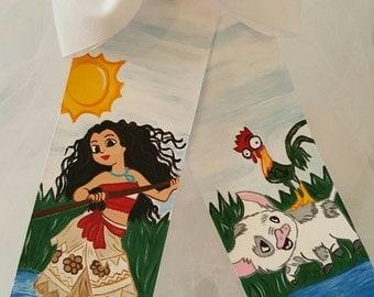Boutique Hawaiian Princess Handpainted Hairbow