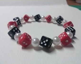 Dice Bracelet,Dice Jewelry,Bunco Jewelry,Gift Exchange.Party Jewelry