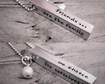 Hand Stamped, Bar Necklace, Personalized Jewelry, Hand Stamped Necklace, Custom Jewelry, Gifts for Mom, Grandma Jewelry, Mom Necklace