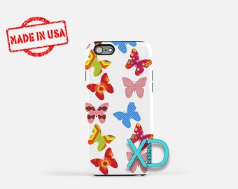Butterfly iPhone Case, Colorful iPhone Case, Butterfly iPhone 8 Case, iPhone 6s Case, iPhone 7 Case, Phone Case, iPhone X Case, SE Case