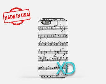 Sheet Music iPhone Case, Notes iPhone Case, Sheet Music iPhone 8 Case, iPhone 6s Case, iPhone 7 Case, Phone Case, iPhone X Case, SE Case