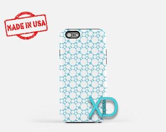 Blue Bubble Phone Case, Blue Bubble iPhone Case, Bubbly iPhone 7 Case, White, Bubbly iPhone 8 Case, Blue Bubble Tough Case, Clear Case,