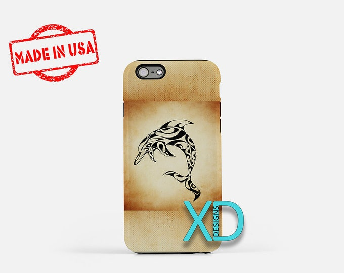 Artistic Dolphin iPhone Case, Artistic iPhone Case, Art iPhone 8 Case, iPhone 6s Case, iPhone 7 Case, Phone Case, iPhone X Case, SE Case