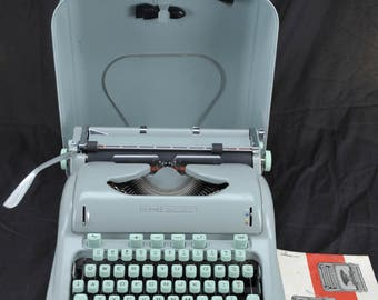 EXC 1963 Hermes 3000 Refurbished Pica Portable Typewriter W/ Warranty >>>