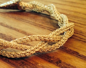 Triple Strand Viking Knit Bracelet