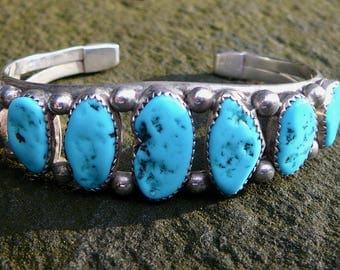 Navajo Bracelet, Navajo Turquoise Bracelet, Native American Silver Jewelry, Navajo Jewelry, Navajo Turquoise, Turquoise Cuff Bracelet