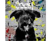 Custom Street art pet portrait - Custom Graffiti pet portrait - Digital