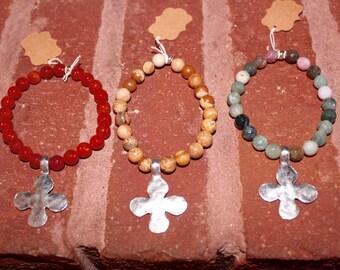 Cross dangle bracelets