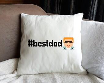Hashtag Emoji Dad Cushion-Gift for Him-Emoji Gift-Father's Day Gift-Decorative Cushion-Emoji Gift-Homeware Gift-Funny Gift-Humour Gift