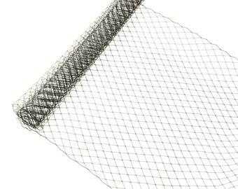 """1 Yard x 10"""" Black Russian Millinery Birdcage Veil Netting - Available in 15 Colors"""