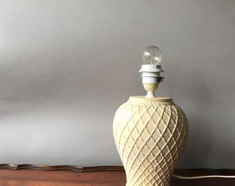 Stunning vintage pottery table lamp, smaller model