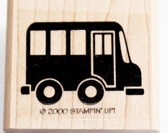 Bus Rubber Stamp retired from Stampin Up
