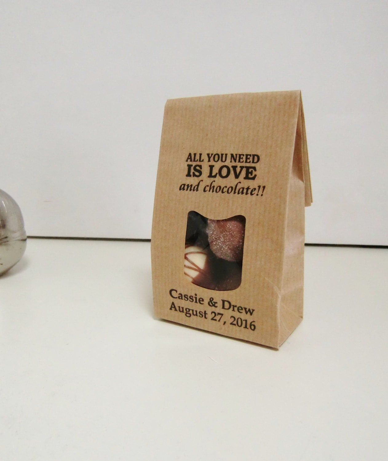 150 Rustic Wedding Favor Bags-LOVE & by IzzyandLoll on Etsy