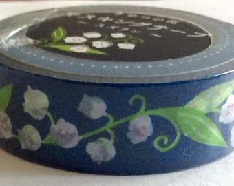 "SALE Floral Washi Tape ""Lily of the Valley"" by Amifa of Japan  15mm x 5 meter roll."