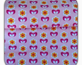 Cotton fabric Whoopsy Daisy - soft Cactus - pink - red 50 cm