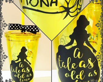 Beauty and the Beast Belle Disney Tumbler Water Bottle Cup