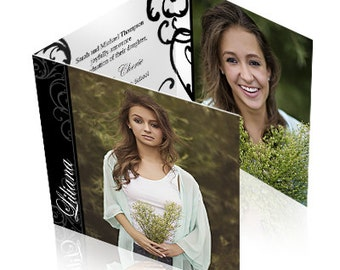 Printed Elegant Trifold Graduation Announcements - sets of 25