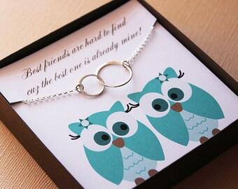 Best friend gift ideas necklace best friend jewelry bff bestie best friend two circle friend bestie gift bff necklace gifts for best friend