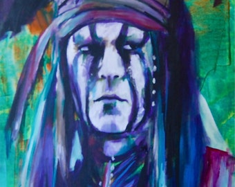 """Tonto Lone Ranger  12""""x18"""" Poster Johnny Depp Celebrity Print Wall Art Colorful Abstract Pop Art"""