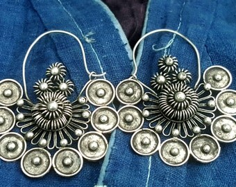 Ancestral Spirits Earrings Miao Hmong ethnic tribal jewelry