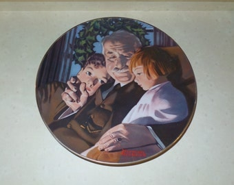 Norman Rockwell Collectors Edition 1980 'The Joy of Christmas' Limited Edition Brittany China