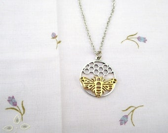 Bee Necklace /  2 Styles / Listing for 1 / women's jewelry / Men's Jewelry / teen jewelry / Jewelry / women / men / boys jewelry / girls