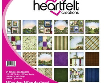 Heartfelt Creations Double Sided 12x12 Paper Pad Woodsy Wonderland Collection