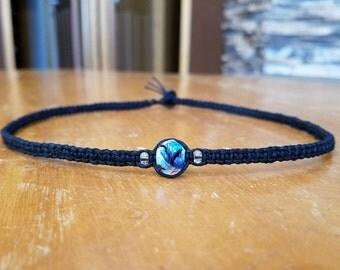 Mens Black Necklace Mens Choker Necklace for Him - Mens Hemp Necklace for Men - Mens Jewelry for Him Jewelry for Men Boyfriend Gift for Men