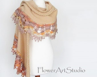 Amber Bridal Cover Up Wedding Bolero Creme Shrug Crochet Shawl Bridal Shawl Wedding Wrap Beige Capelet Bridal Cape Bridesmaid Shawl