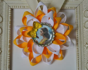 Belle Hair Bow from Beauty and The Beast Movie