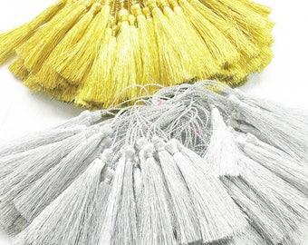 Gold and Silver Tassel, Lame Tassel, Dore Tassel, Fashion Tassels, Tassel Supplies, 10 Pieces, Gold Tassel, Silver Tassel