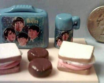 Barbie Sized Vintage Beatles Lunch Box Set