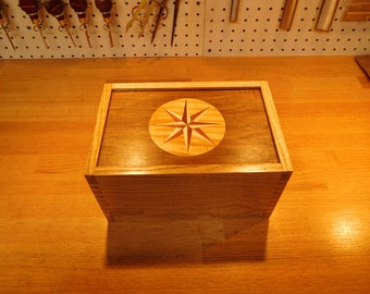 Small Compass Rose Marquetry Chest