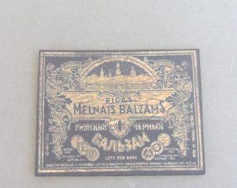 """Old sign """"Melnais Balzams"""""""