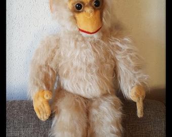 "Lange vintage Monkey, plush monkey, 22"" vintage chimpanzee"