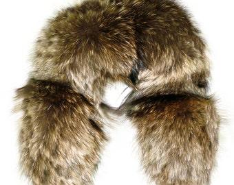 Glacier Wear Finn Raccoon Fur Ruff 24 Inches