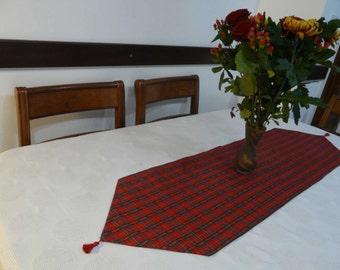 "Christmas Tartan table runner, tablecloth long 130 x 35cm (51.18"" x 13.78"")"