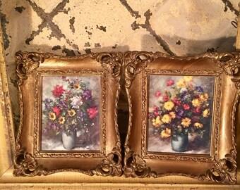 Set of Ornate Gold Plastic Frames, Gold Picture Frame, Gold Frame, Picture Frame