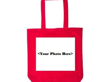 Red Custom Photo Tote