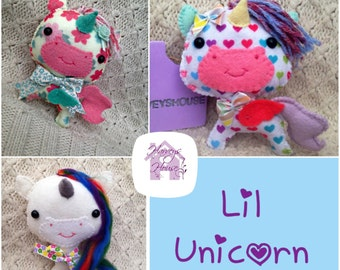Handmade Unicorn Collectable Doll - Made to Order