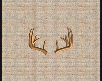 Deer Antler Embroidery Design Deer Rack Buck Antler Embroidery Design Whitetail Deer Embroidery Design  Hunting Embroidery Design