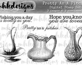 Pretty As A Pitcher Digital Stamp Set