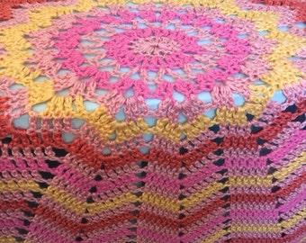 Round crochet afghan Etsy