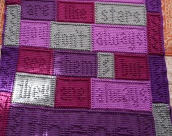 FRIENDS pattern for crocheted blanket